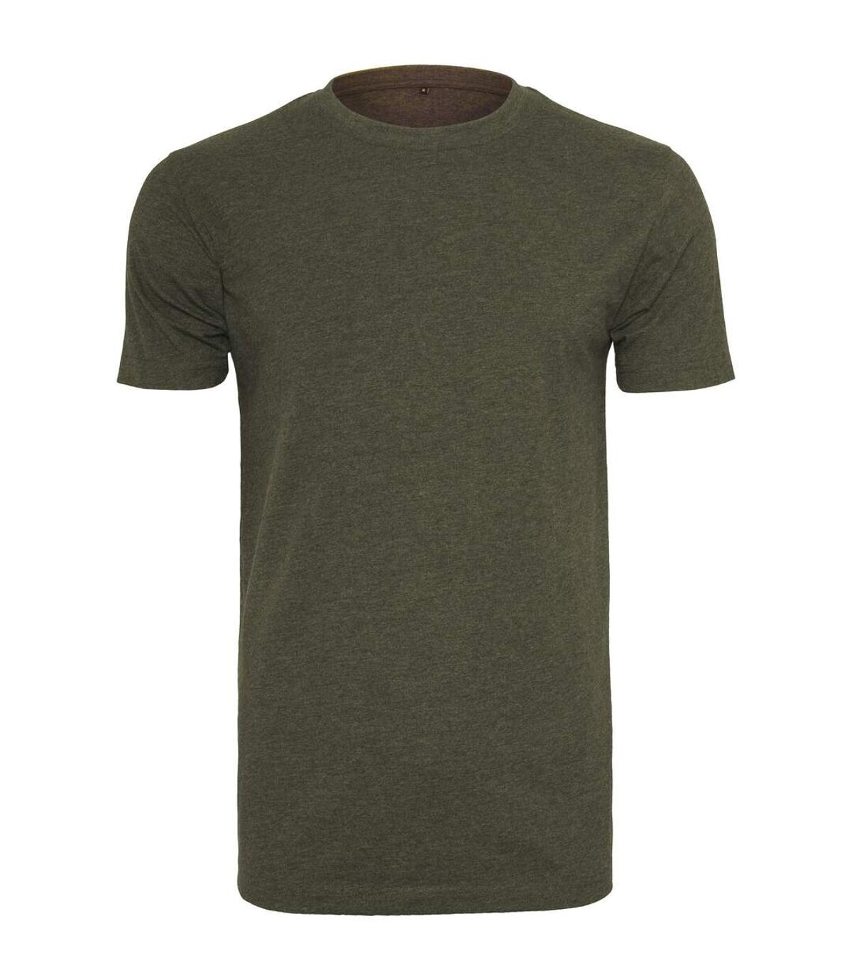 Build Your Brand Mens T-Shirt Round Neck (Olive) - UTRW5815