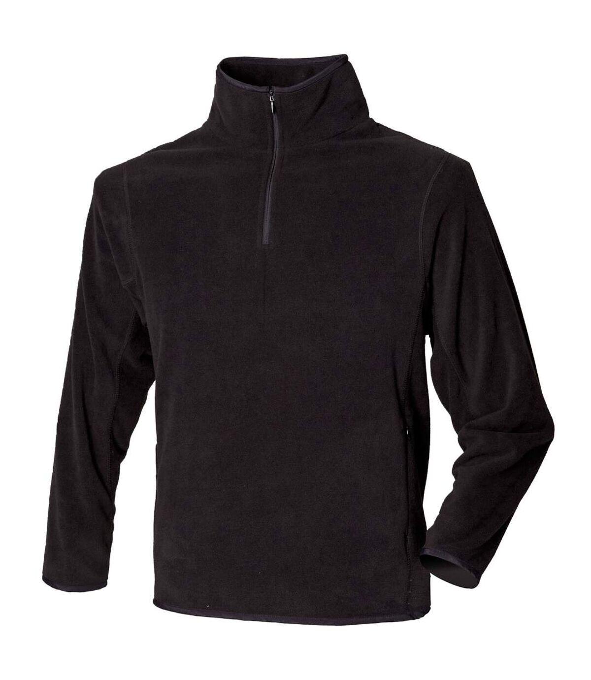 Henbury - Haut polaire à fermeture zippée - Homme (Noir) - UTRW680
