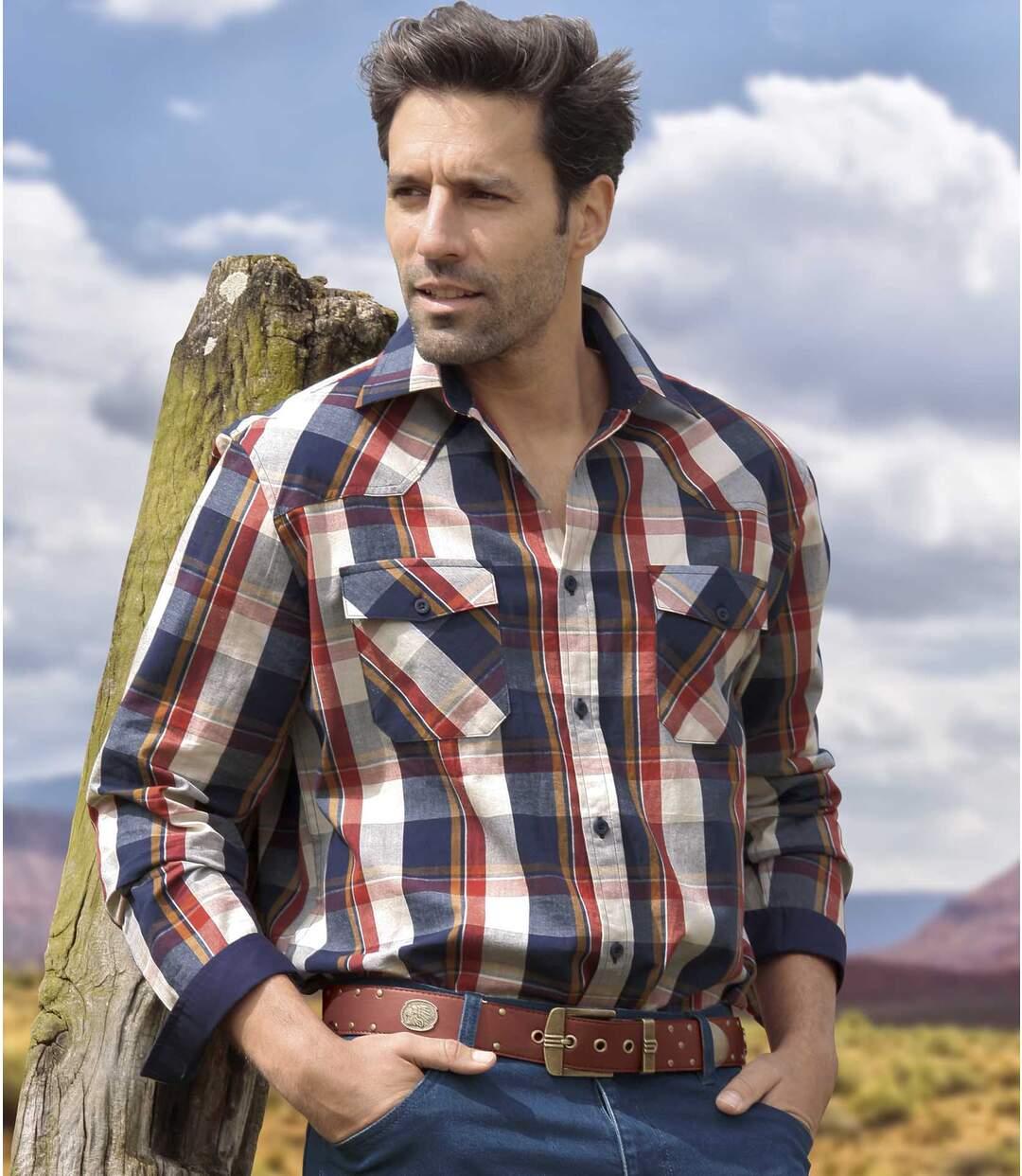 Geruit Bestemming Westernoverhemd