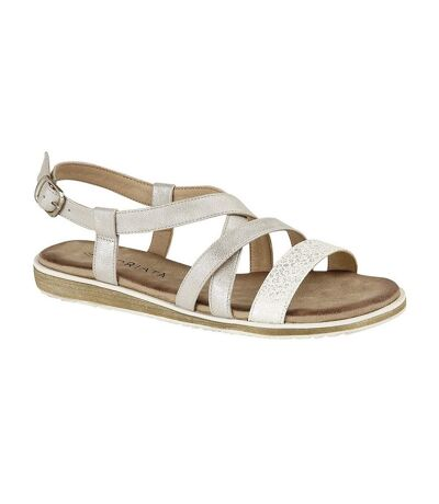 Cipriata Womens/Ladies Marcella Sandals (Silver Shimmer) - UTDF1554