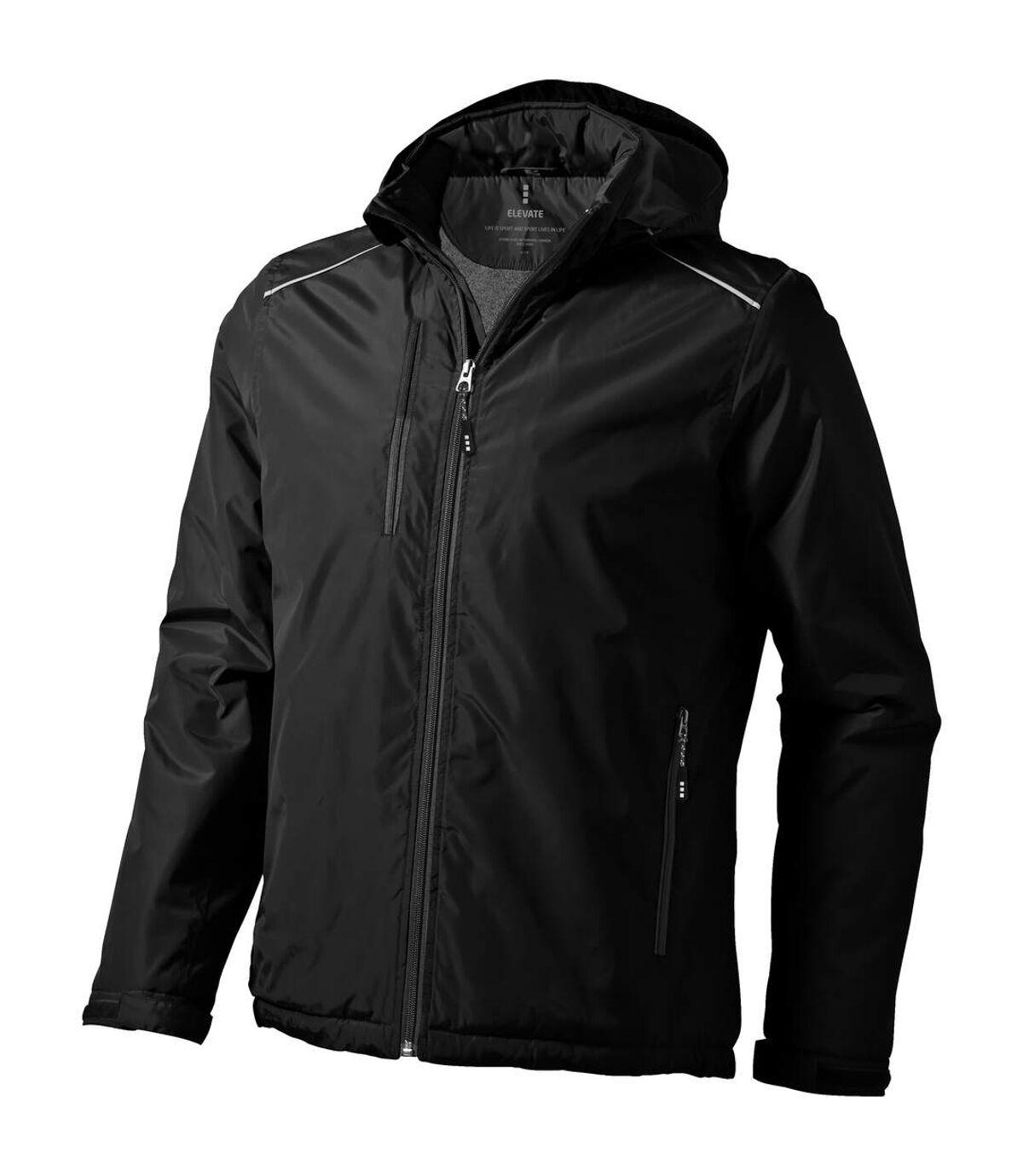 Elevate Mens Smithers Fleece Lined Jacket (Solid Black) - UTPF1909