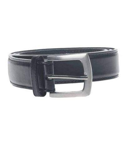 Duke Mens D555 Lewis Square Buckle Plain Belt (Black) - UTDC124