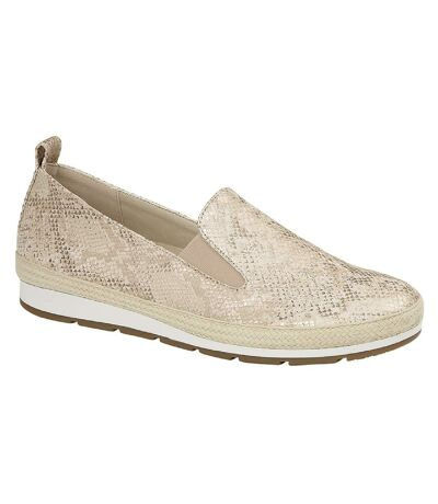 Cipriata Womens/Ladies Luca Shoes (Gold Metallic Faux Reptile) - UTDF1559