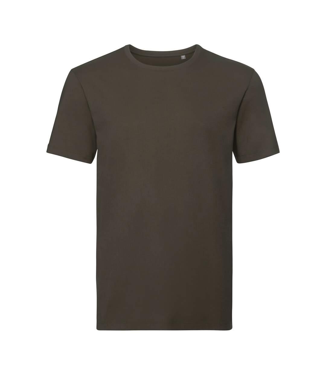 Russell Mens Authentic Pure Organic T-Shirt (Dark Olive) - UTPC3569