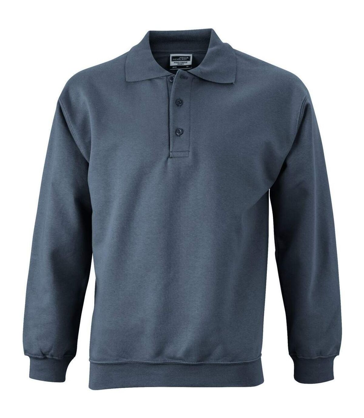 Sweat-shirt col polo - homme - JN041 - gris carbone