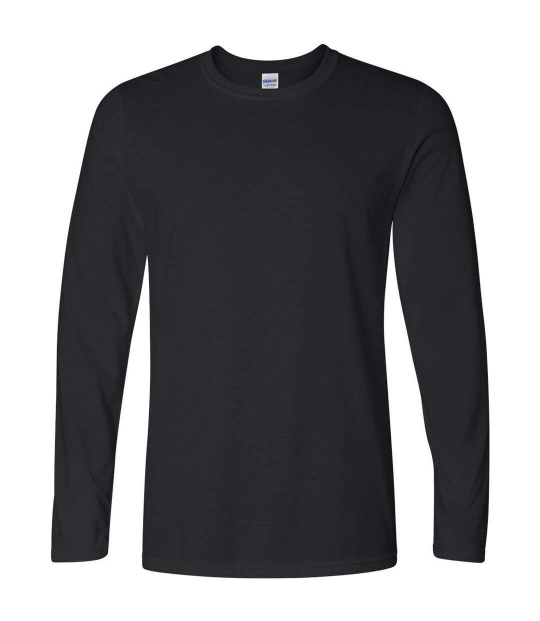 Gildan Mens Soft Style Long Sleeve T-Shirt (Black) - UTBC488