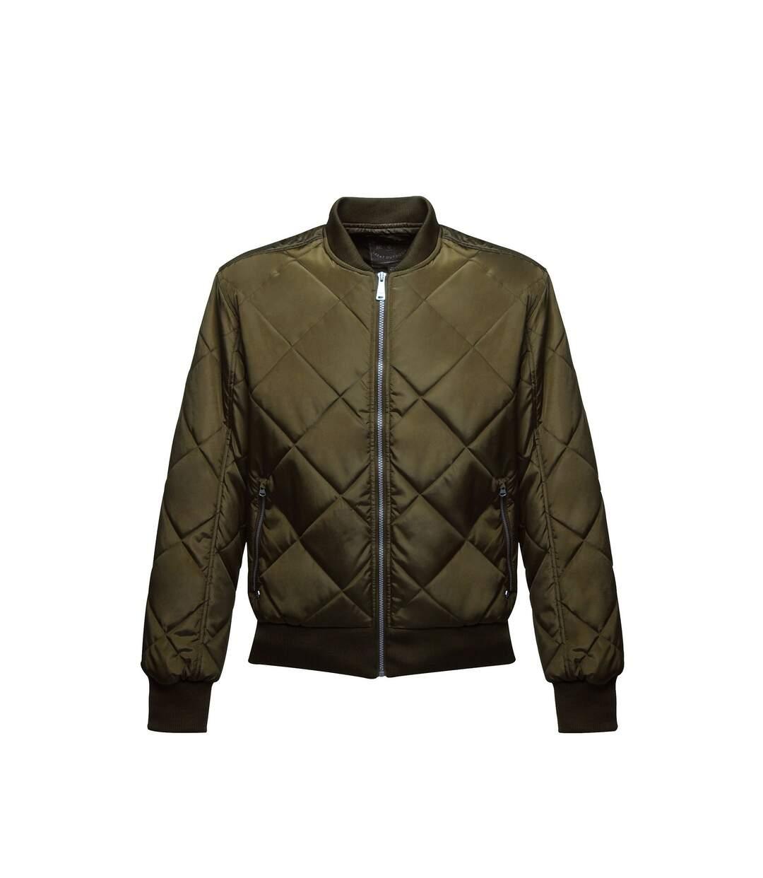 Regatta Mens Originals Fallowfield Bomber Jacket (Dark Khaki) - UTRG2942