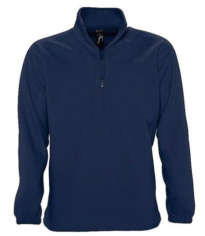 Sweat shirt polaire col zippé - 56000 - bleu marine