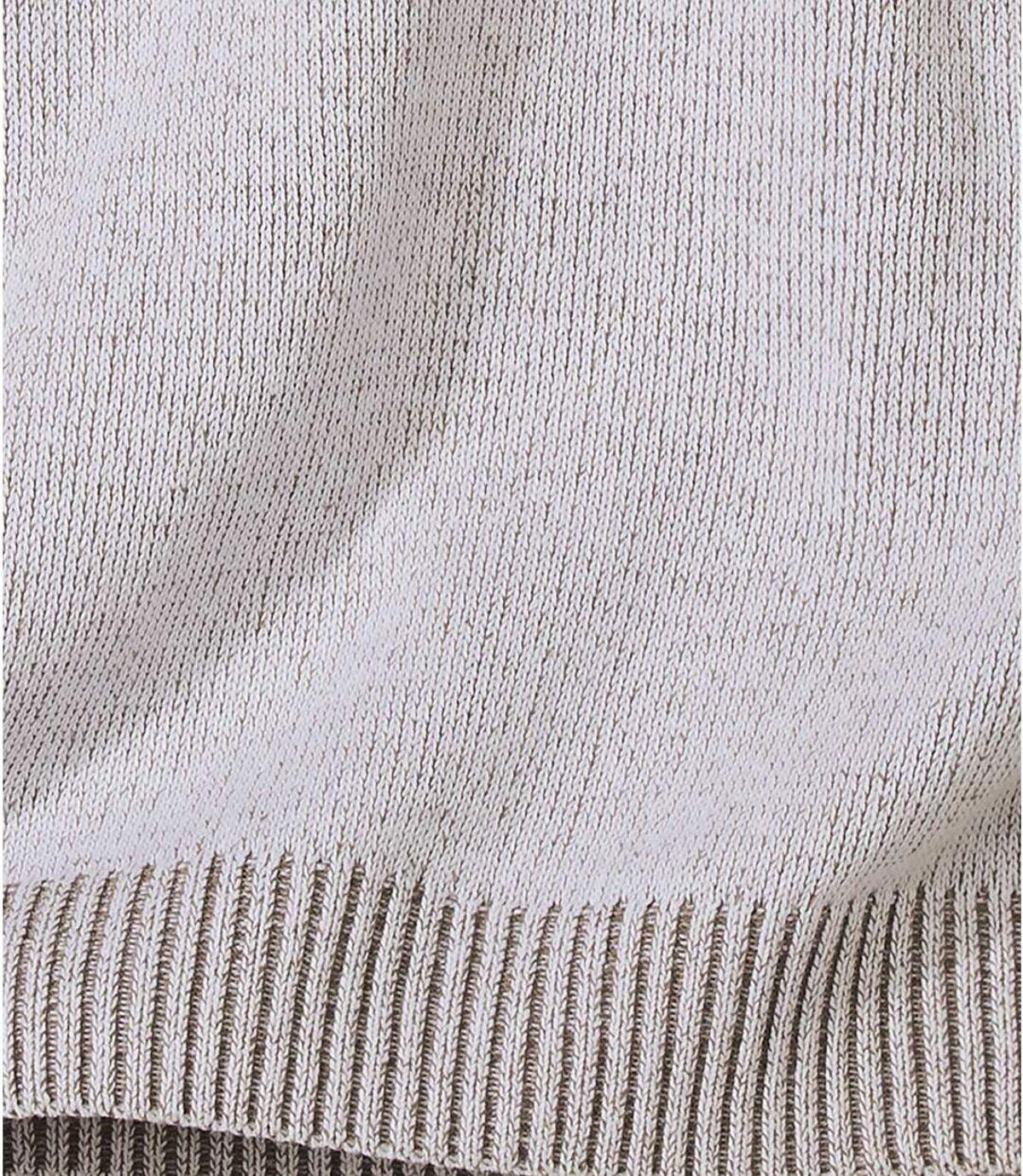 Pulóver sgolierom na zips zmelírovanej bavlny Atlas For Men