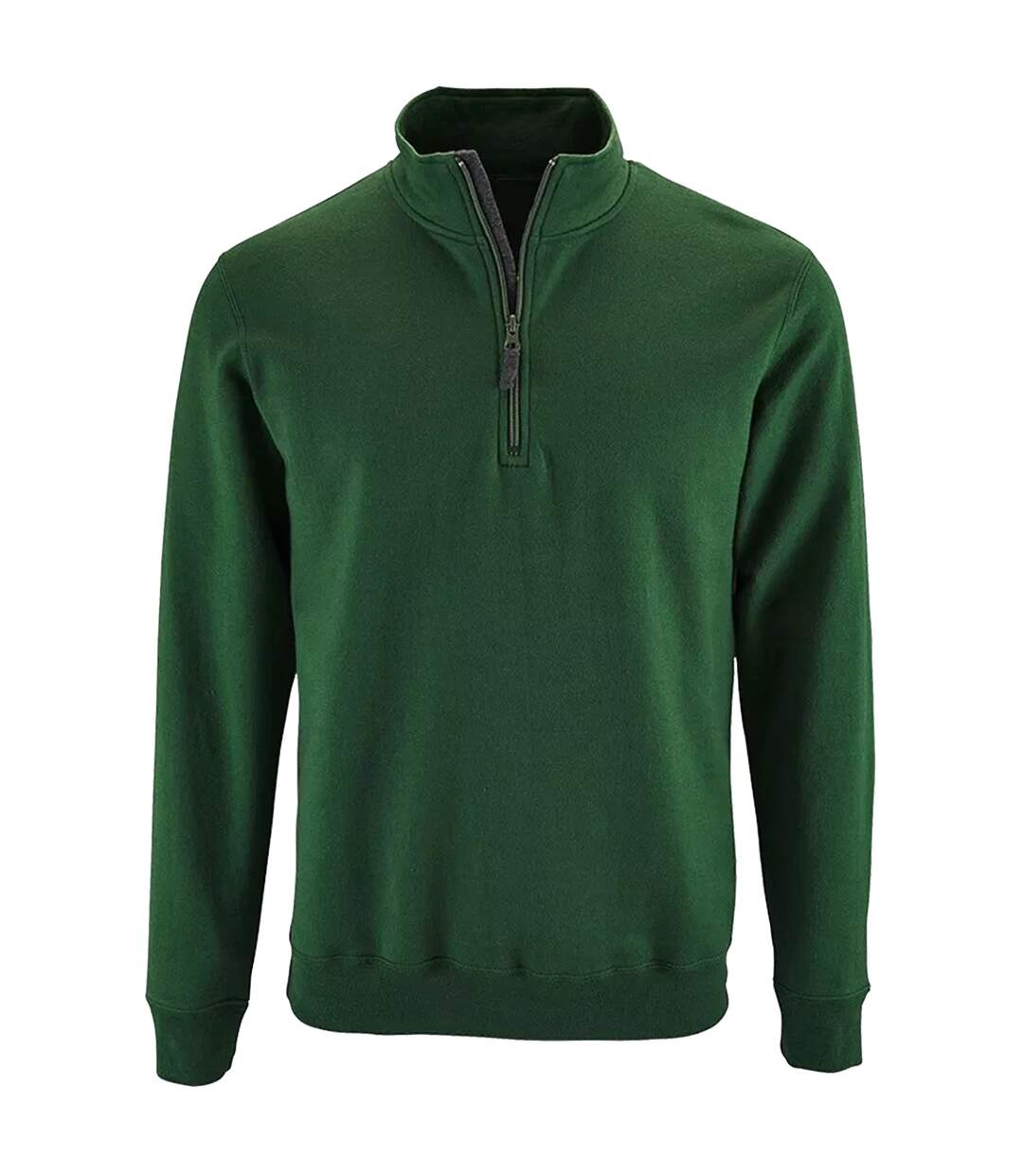 SOLS Mens Stan Contrast Zip Neck Sweatshirt (Grey Marl) - UTPC3172