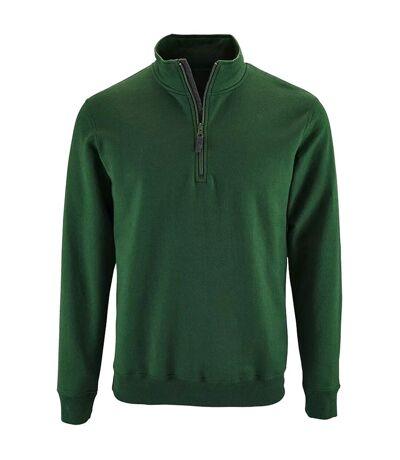 SOLS - Pull zippé STAN - Homme (Vert bouteille) - UTPC3172