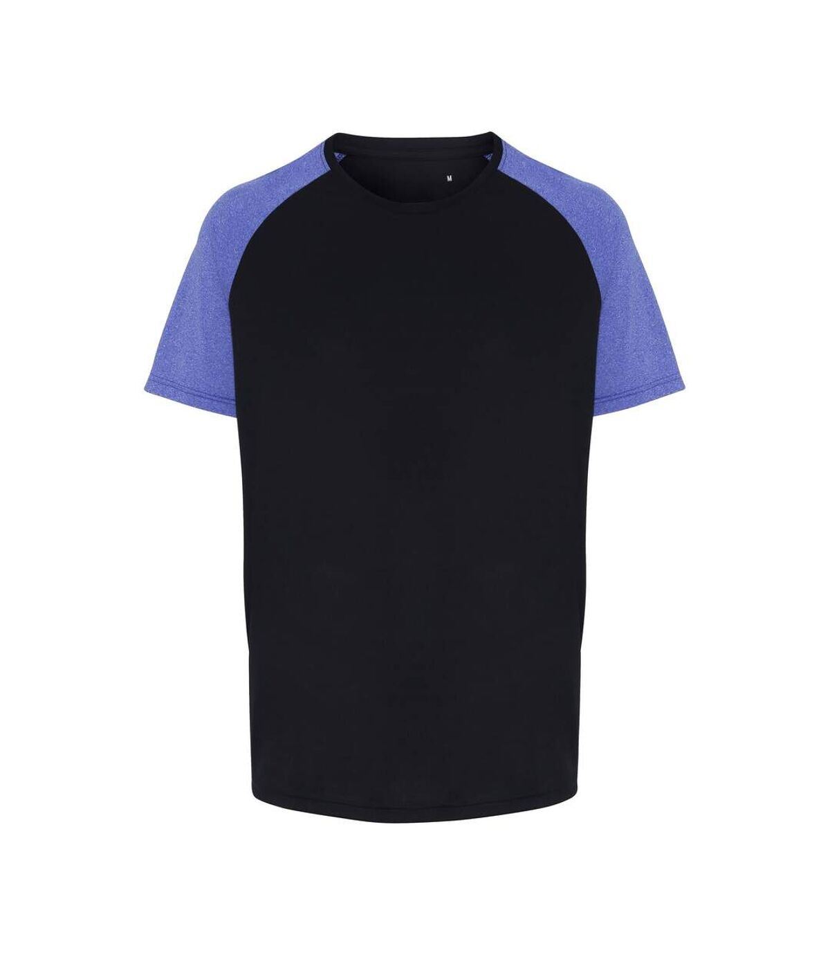 TriDri Mens Contrast Sleeve Performance T-shirt (Navy/Blue Melange) - UTRW6533