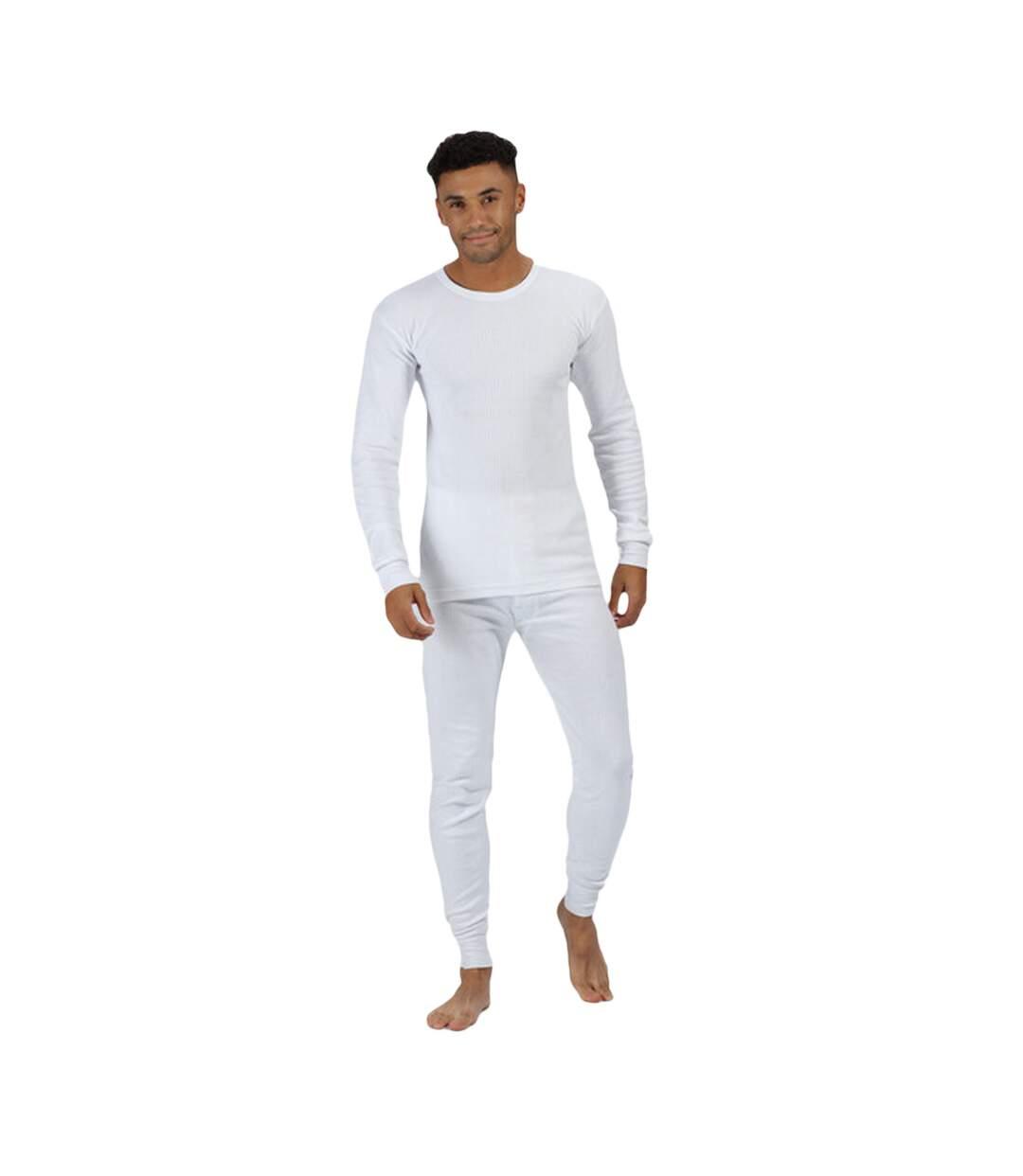 Regatta - T-shirt thermique à manches longues - Homme (Blanc) - UTRG1430