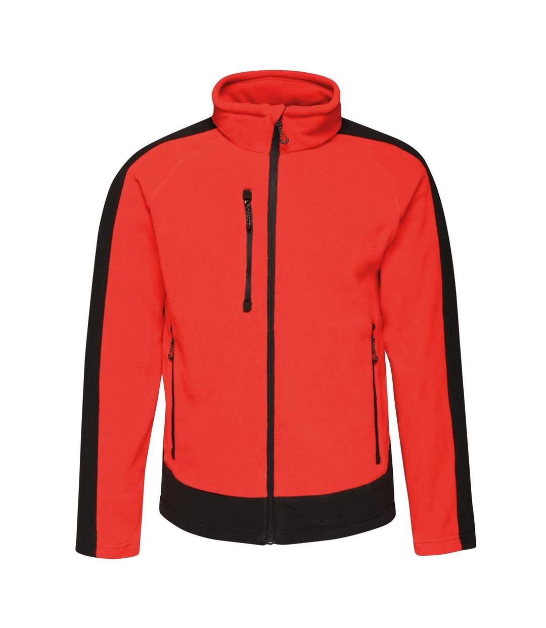 Regatta Contrast Mens 300 Fleece Top/Jacket (Classic Red/Black) - UTRW6352