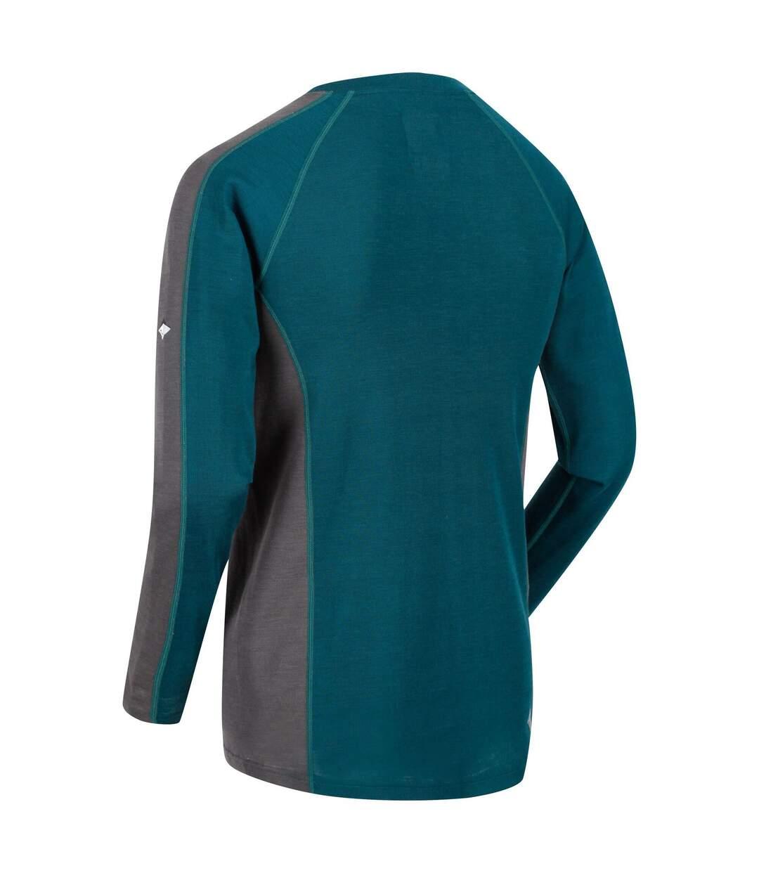 Regatta - Sous-Pull Thermique Beru - Homme (Bleu sarcelle/gris foncé) - UTRG2861