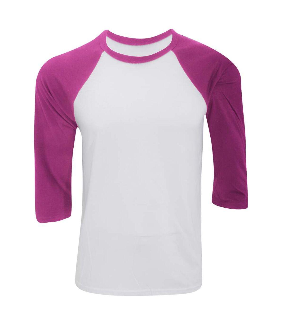 Canvas Mens 3/4 Sleeve Baseball T-Shirt (White/Charcoal Triblend) - UTBC1332