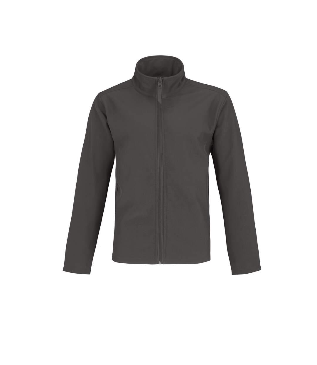 B&C Mens Two Layer Water Repellent Softshell Jacket (Dark Grey/ Neon Orange) - UTRW4835