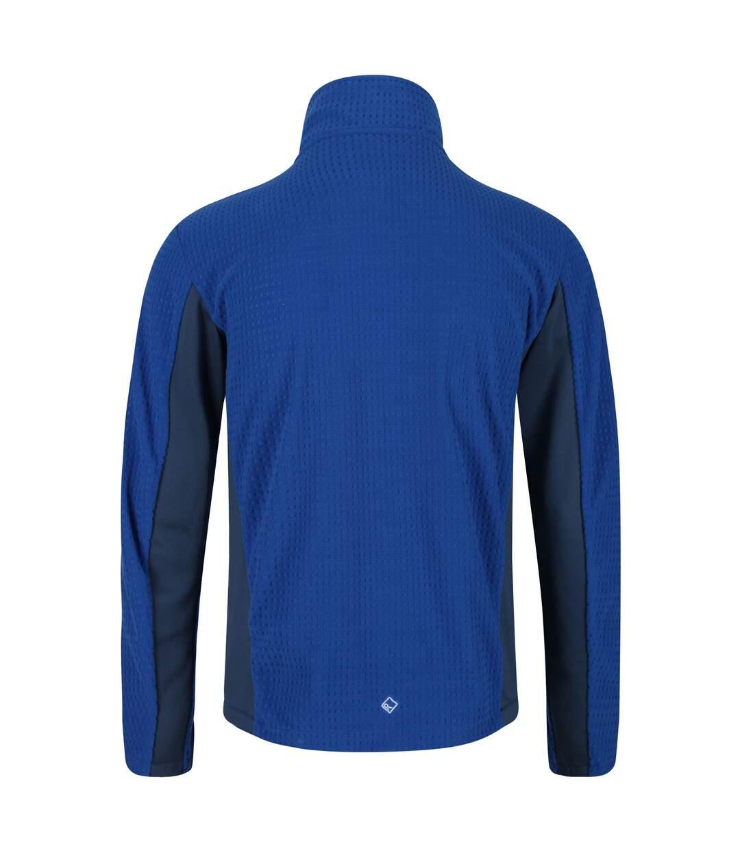 Regatta Mens Highton Full Zip Fleece (Nautical Blue/Dark Denim) - UTRG5040