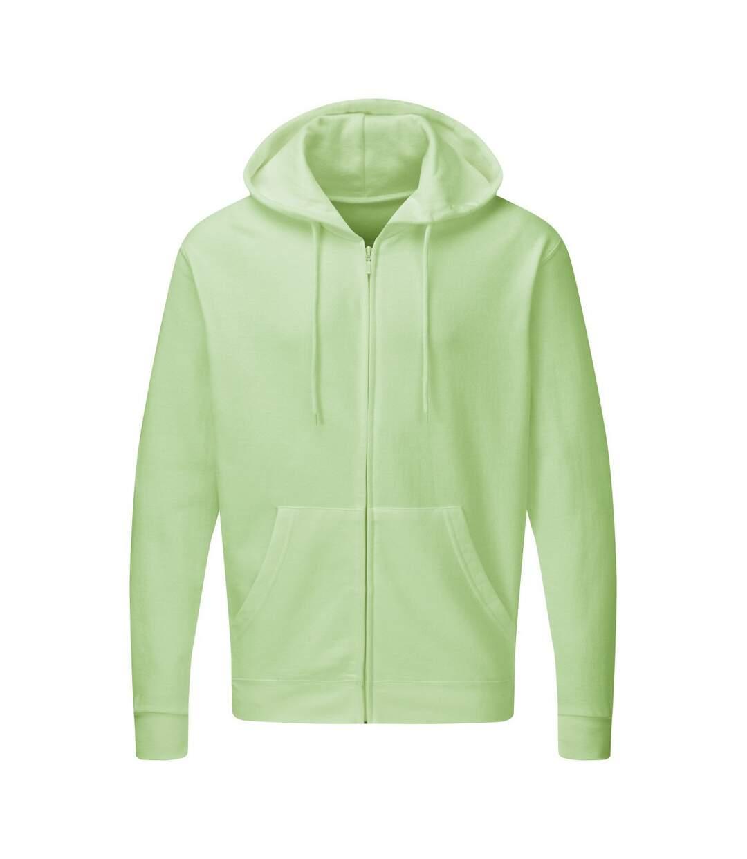 SG - Sweatshirt uni à capuche et fermeture zippée - Homme (Neo Mint) - UTBC1075