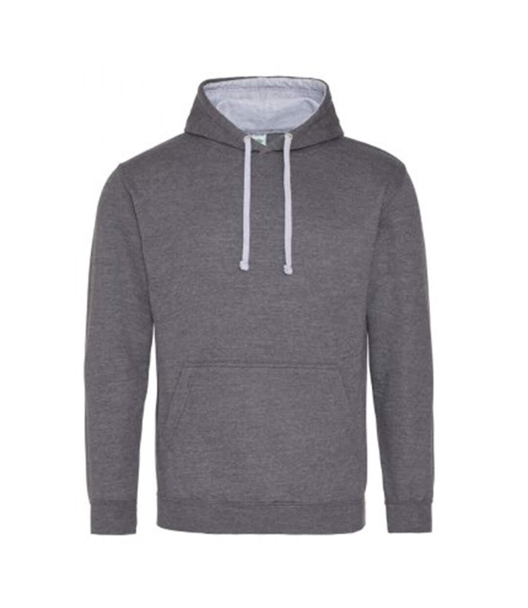 Awdis Varsity Hooded Sweatshirt / Hoodie (Jet Black / Gold) - UTRW165