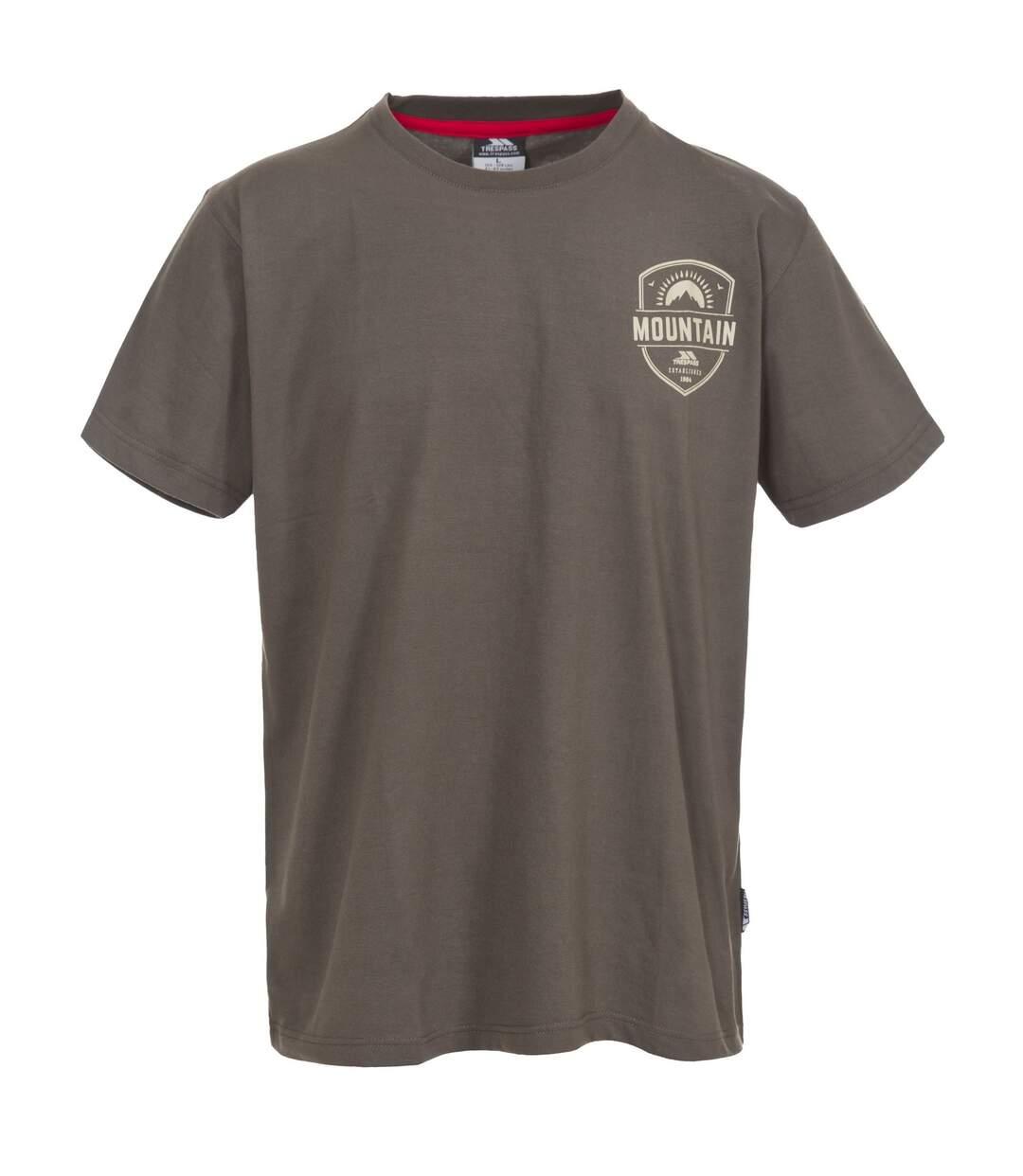 Trespass Mens Rawhider Casual Short Sleeve T-Shirt (Khaki) - UTTP3401