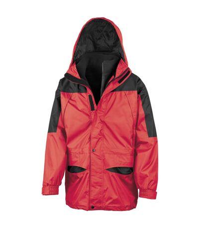 Result Mens Alaska 3-in-1 StormDri Waterproof Windproof Jacket (Red/Black) - UTBC941