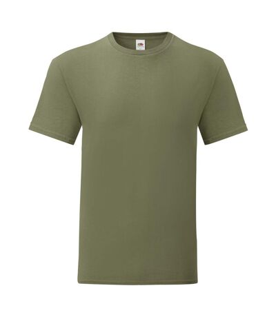 Fruit Of The Loom Mens Iconic T-Shirt (Pack Of 5) (Classic Olive Green) - UTPC4369