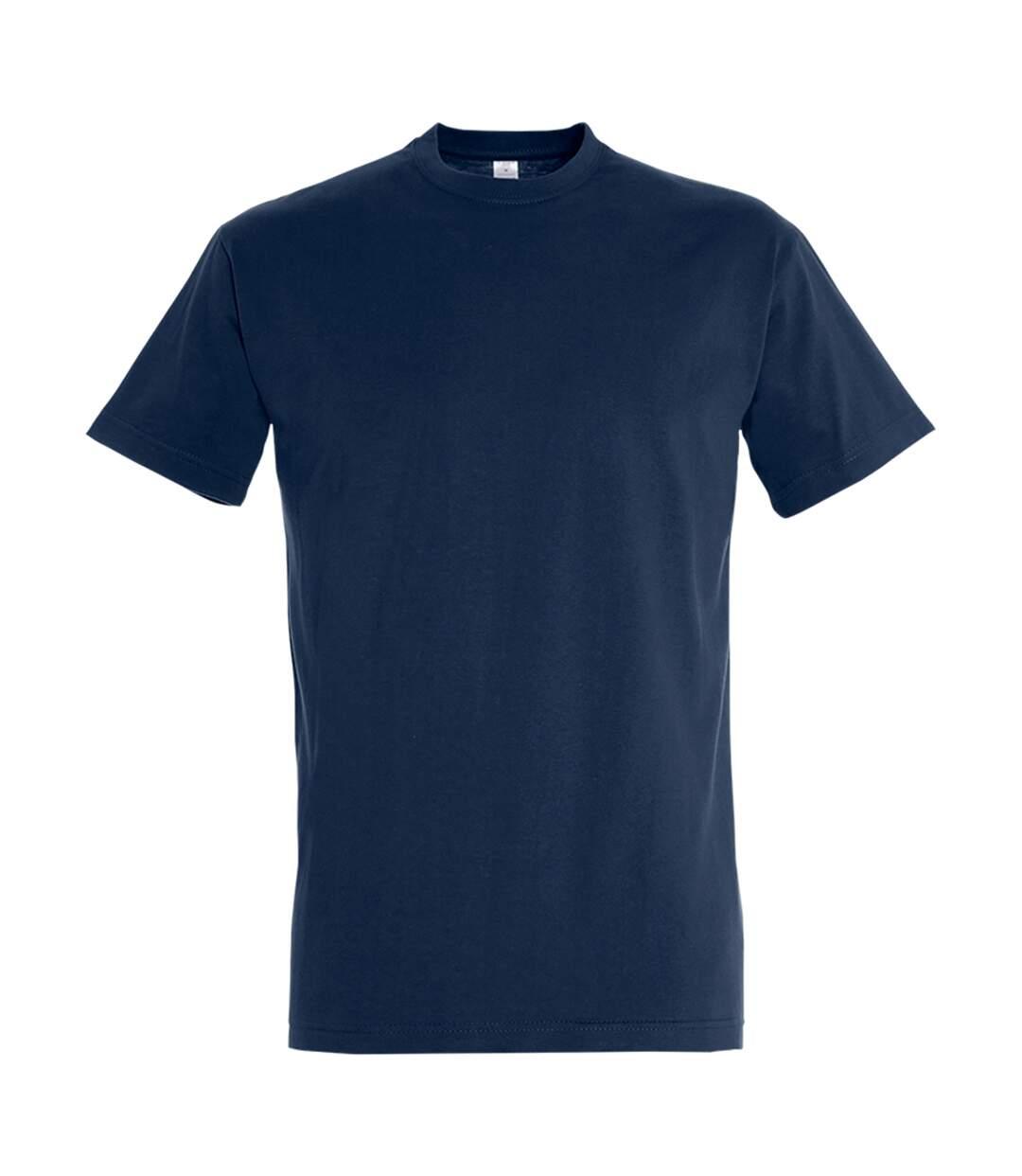 SOLS Mens Imperial Heavyweight Short Sleeve T-Shirt (French Navy) - UTPC290