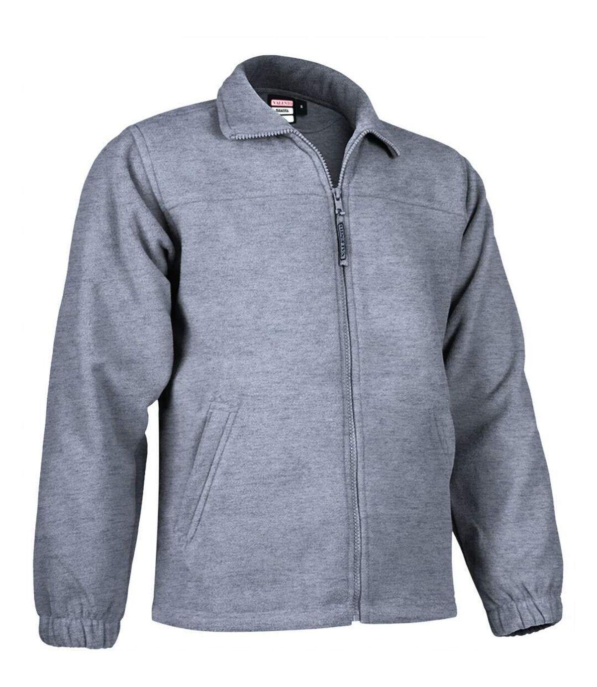 Veste polaire zippée - Homme - REF DAKOTA - gris chiné