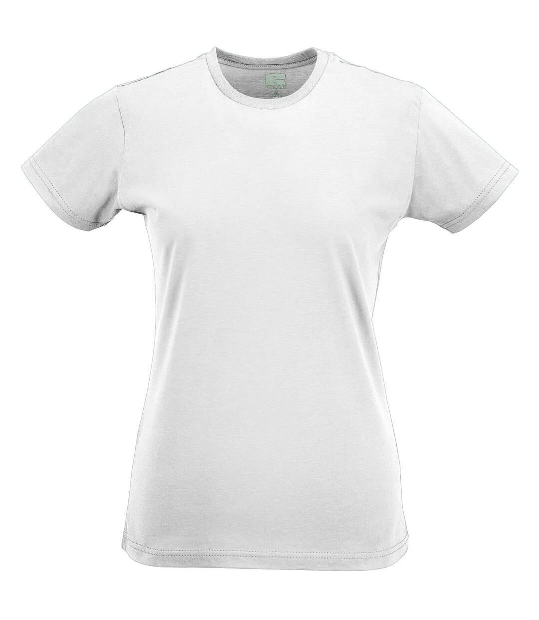 Russel - T-Shirt À Manches Courtes - Femme (Blanc) - UTBC1514