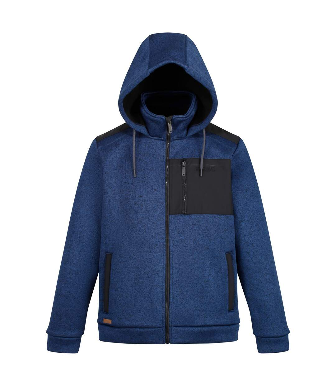 Regatta Mens Westbrook Heavyweight Full Zip Hooded Fleece (Navy/Black) - UTRG4773