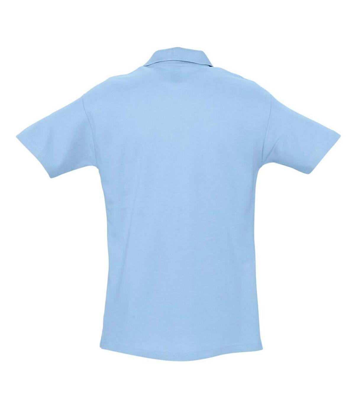 SOLS Mens Spring II Short Sleeve Heavyweight Polo Shirt (Sky Blue) - UTPC320