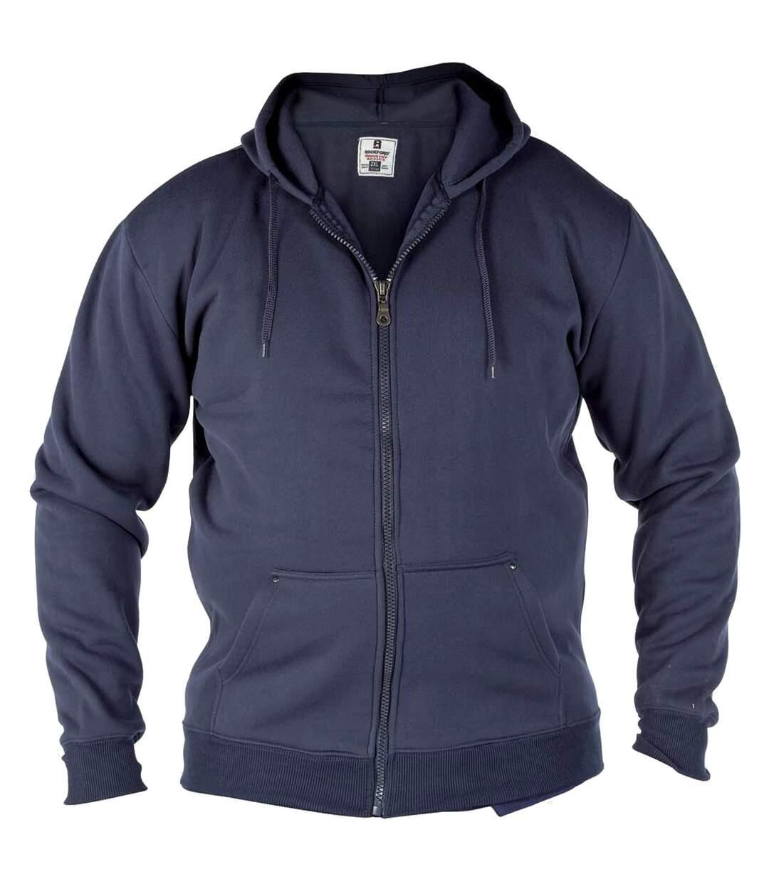 Duke Rockford - Sweat À Capuche Zippé Grande Taille - Homme (Bleu marine) - UTDC104