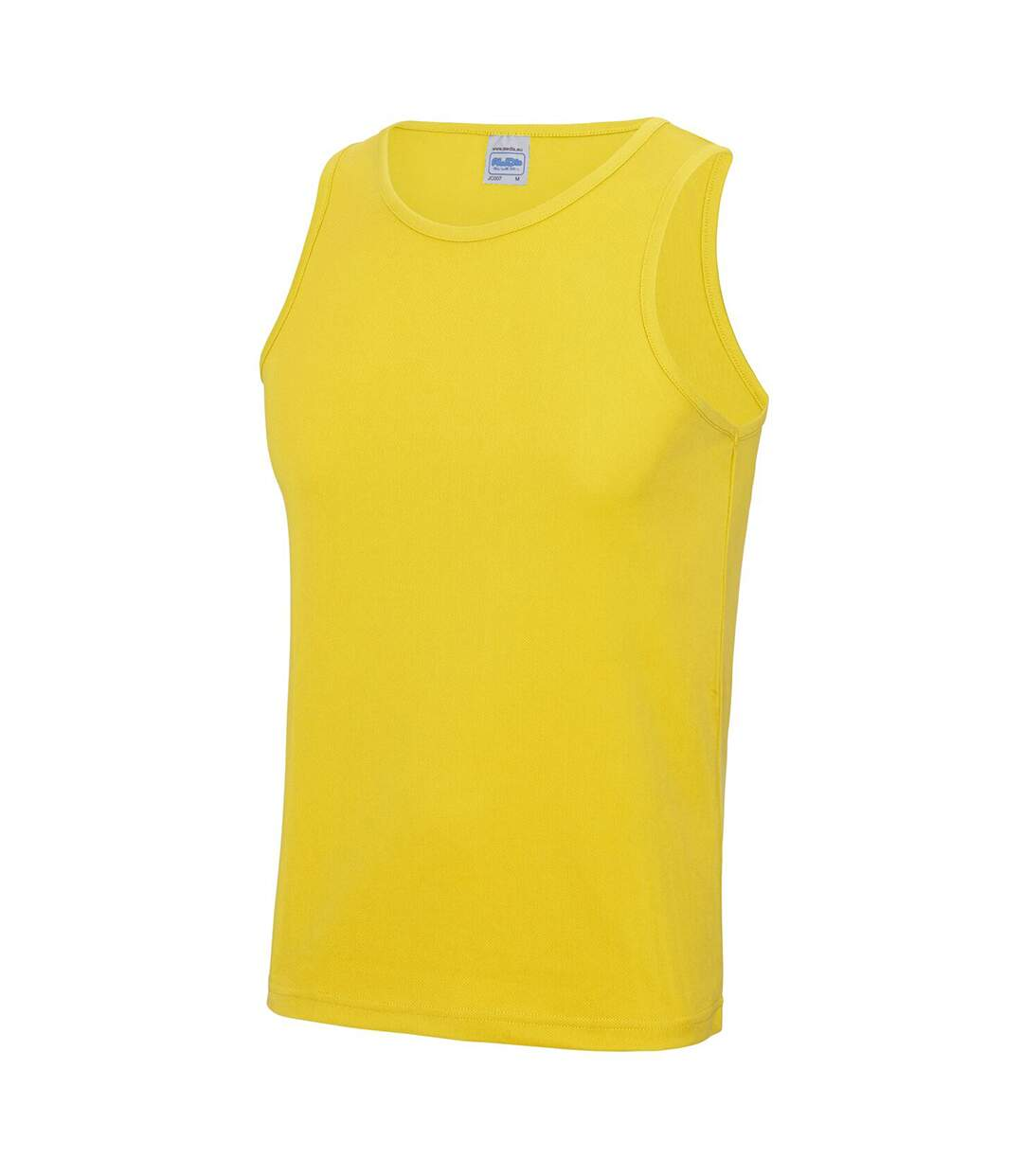 Just Cool Mens Sports Gym Plain Tank / Vest Top (Sun Yellow) - UTRW687