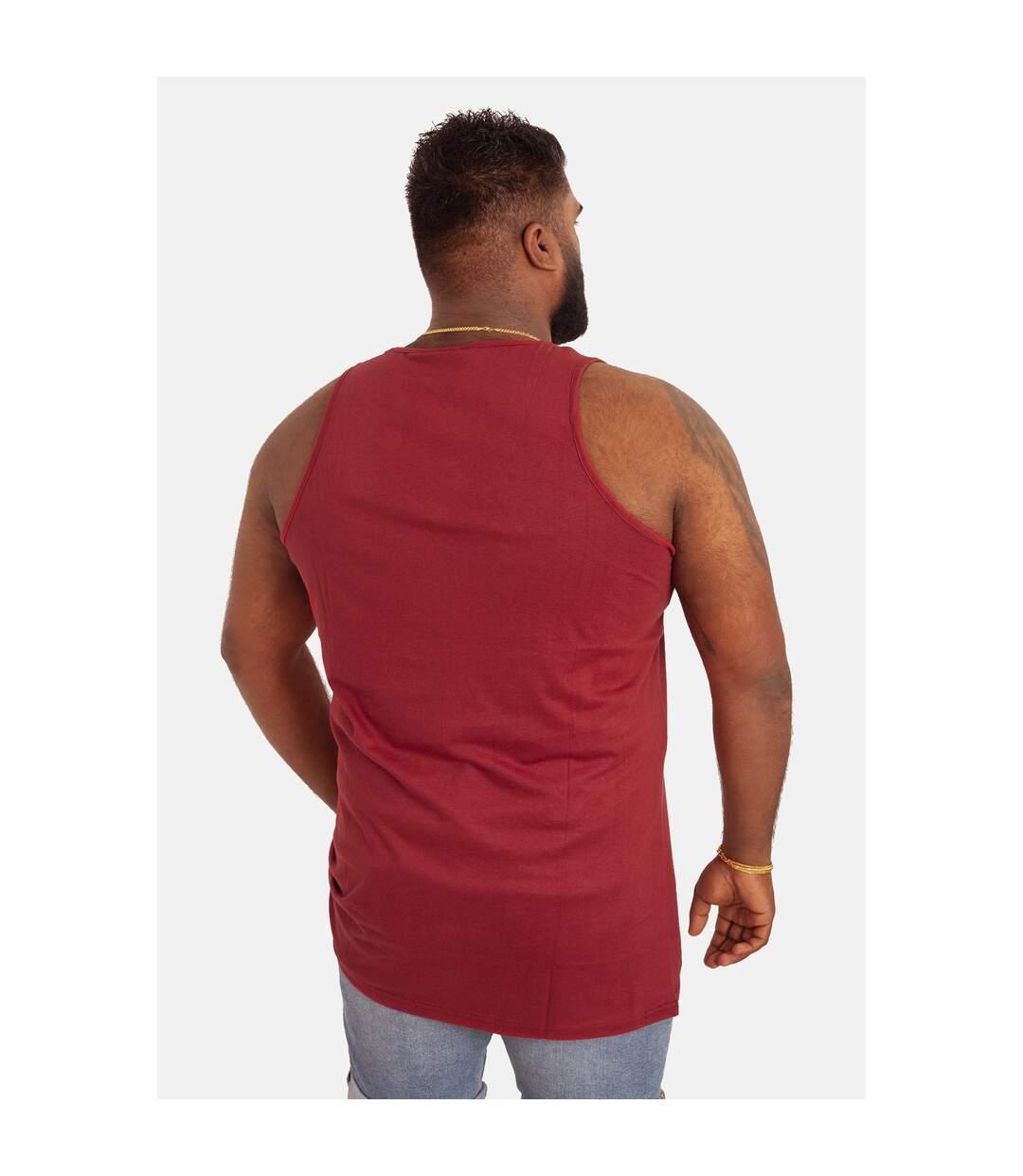 Duke Mens Fabio-2 Kingsize Muscle Vest (Red) - UTDC172