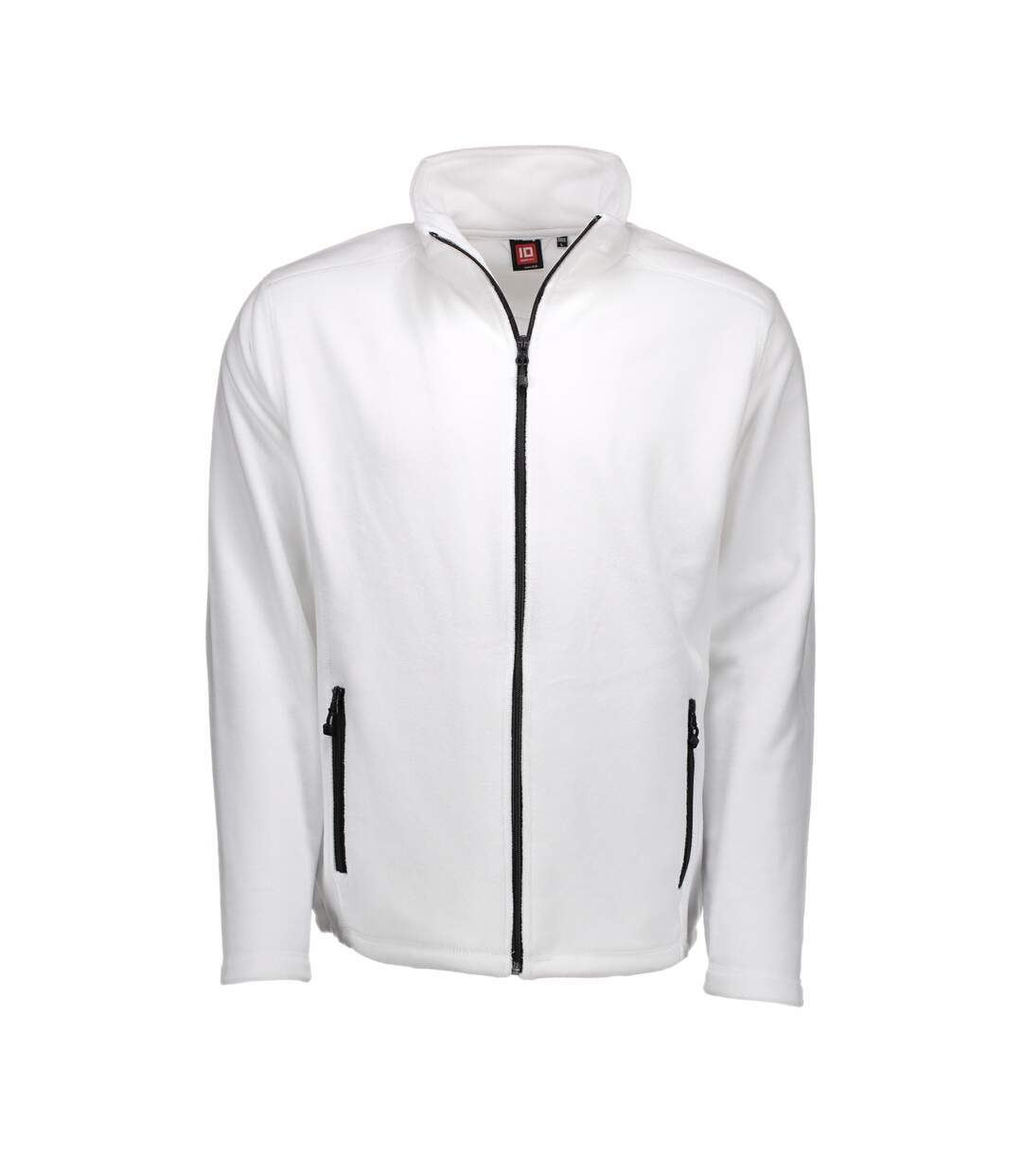 ID Mens Microfleece Full Zip Cardigan (White) - UTID423