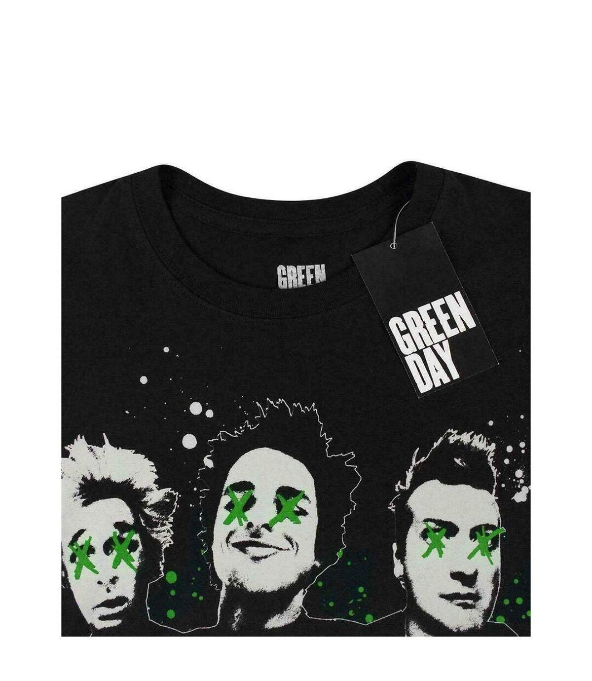 Green Day Official Mens Drip Effect T-Shirt (Black) - UTNS4934