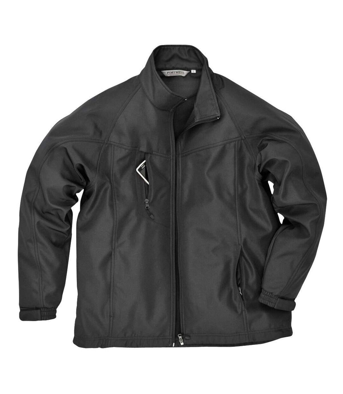 Portwest Mens Oregon Soft Shell Jacket (Black) - UTRW1019
