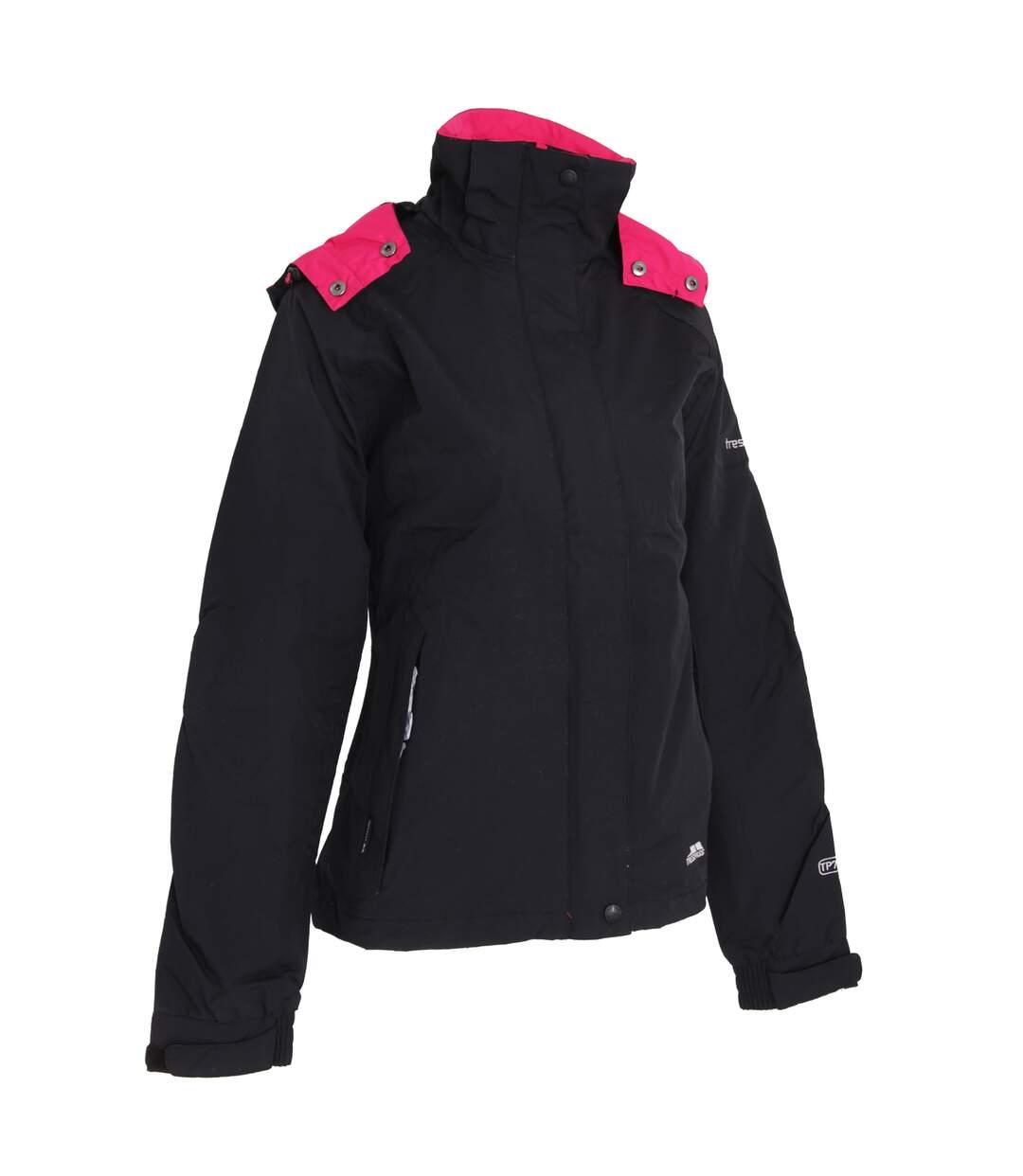 Trespass Womens/Ladies Florissant Hooded Waterproof Jacket (Black) - UTTP170