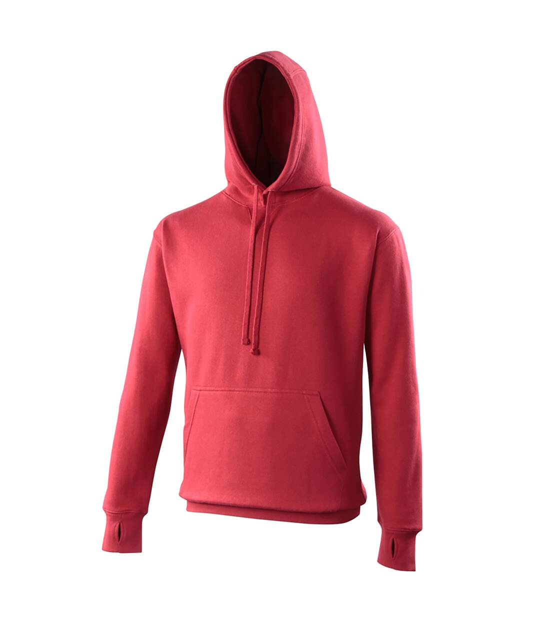 Awdis Mens Street Hooded Sweatshirt / Hoodie (Fire Red) - UTRW170