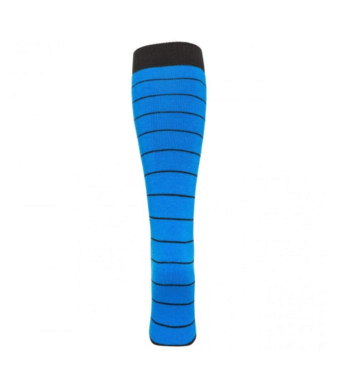 Trespass Mens Toppy Ski Tube Socks (2 Pairs) (Black/Ultramarine) - UTTP875