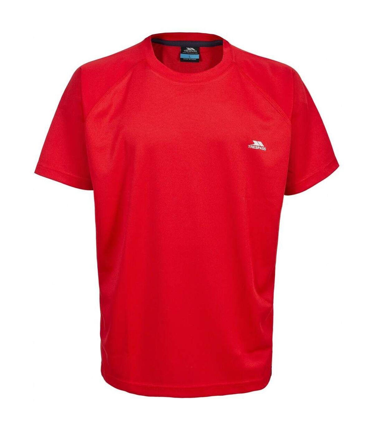 Trespass Mens Debase Short Sleeve Active T-Shirt (Red) - UTTP2922