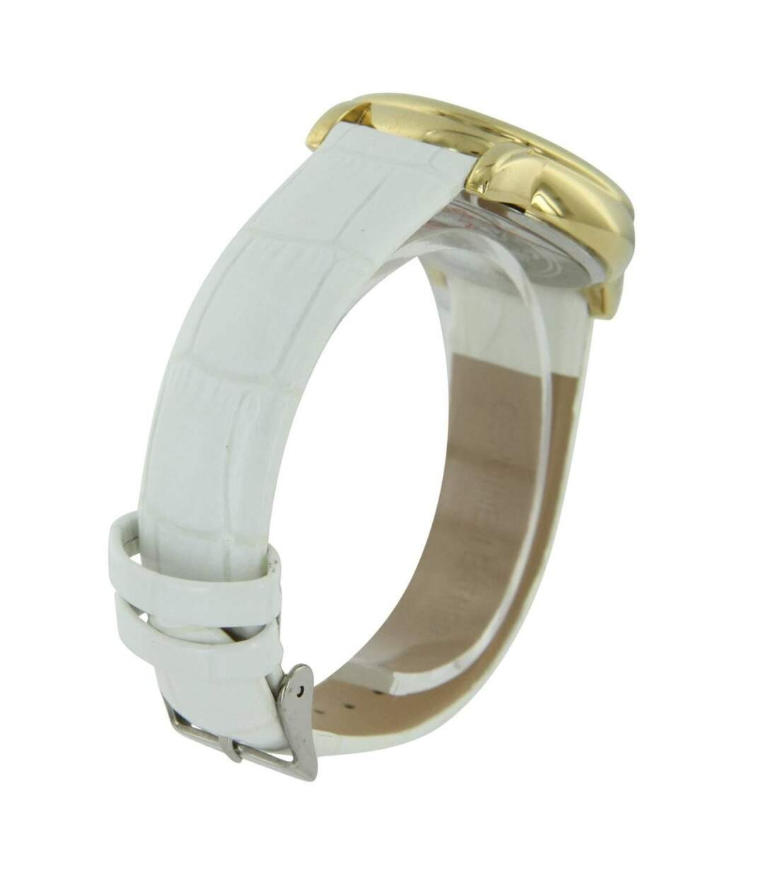 Dégagement Montre Femme ILEWAY bracelet Cuir Blanc dsf.d455nksdKLFHG