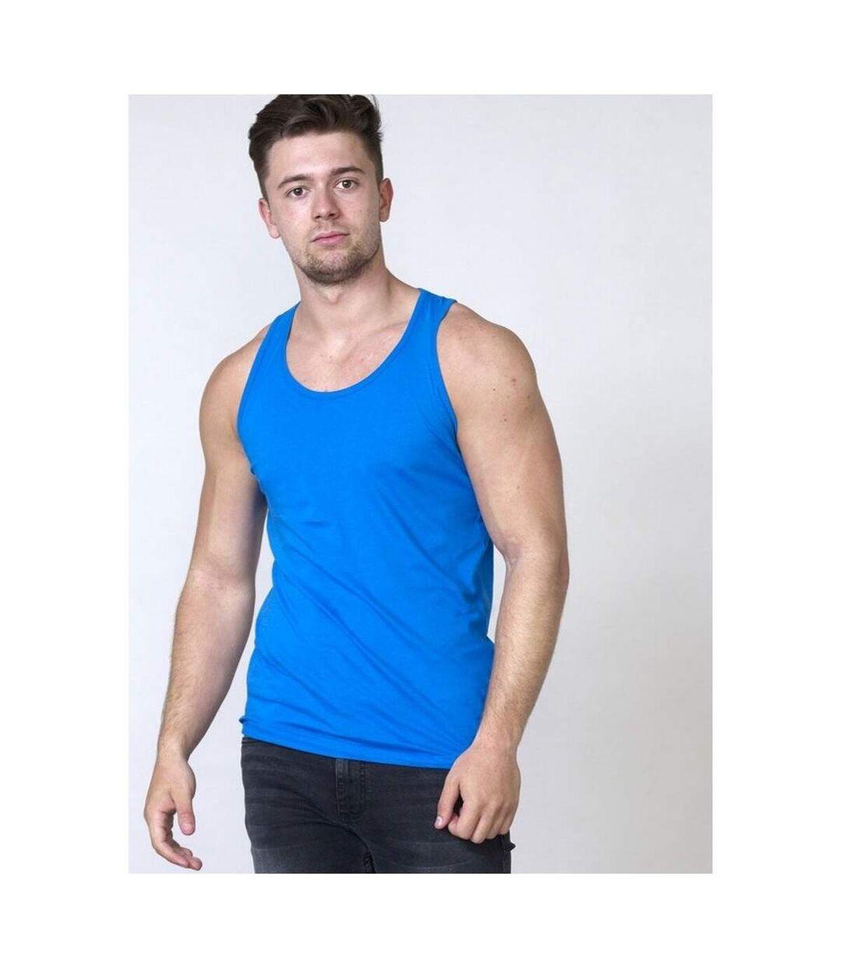 Duke Mens Fabio-2 Muscle Vest (Blue) - UTDC168