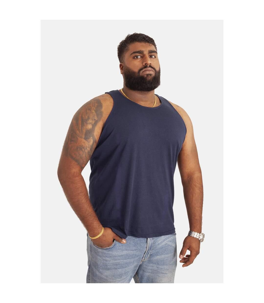 Duke Mens Fabio-1 Muscle Vest (Navy) - UTDC173