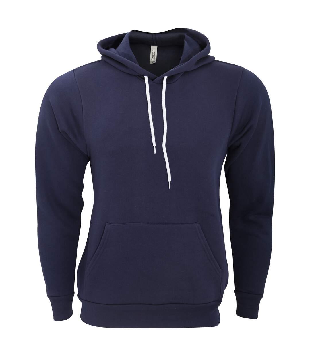 Bella + Canvas Unisex Pullover Polycotton Fleece Hooded Sweatshirt / Hoodie (Navy Blue) - UTBC1336