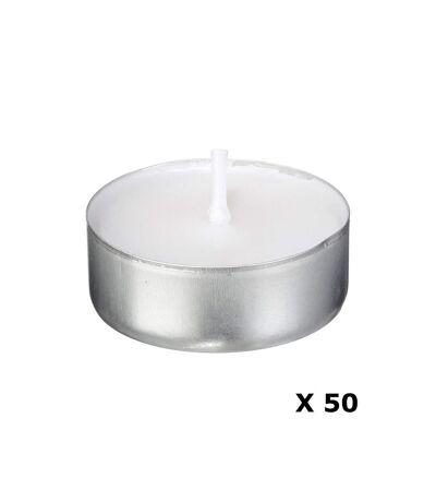 Lot de 50 bougies en box - Blanc