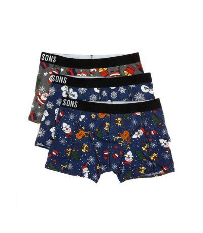 Lot de 3 boxers multicolores homme Only & Sons Rudolph
