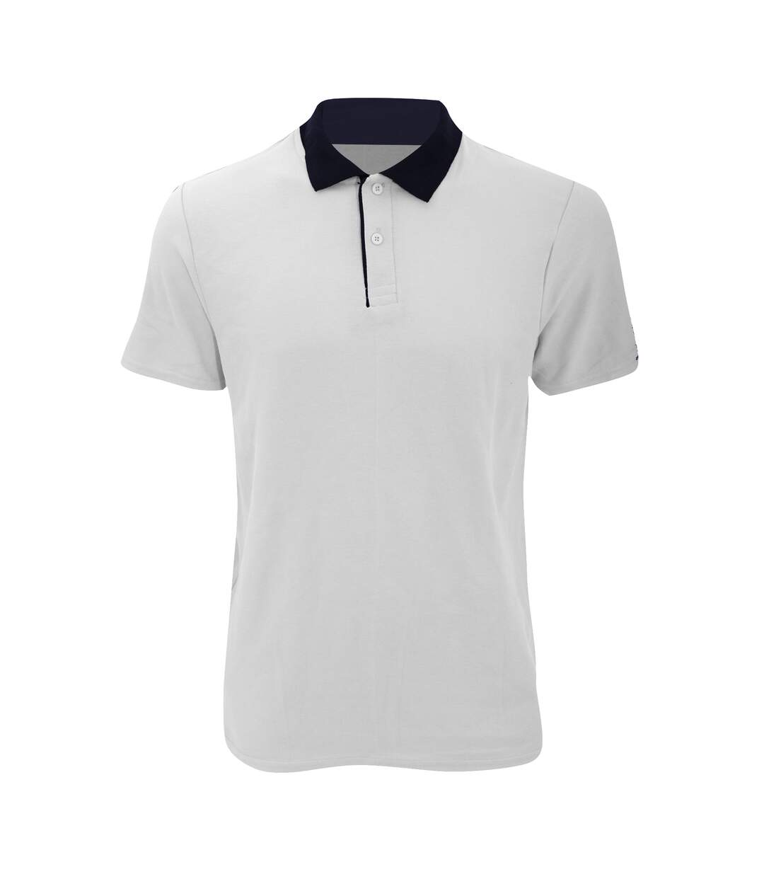 Anvil Mens Fashion Double Pique Plain Polo Shirt (210 GSM) (White/ Navy) - UTRW2535