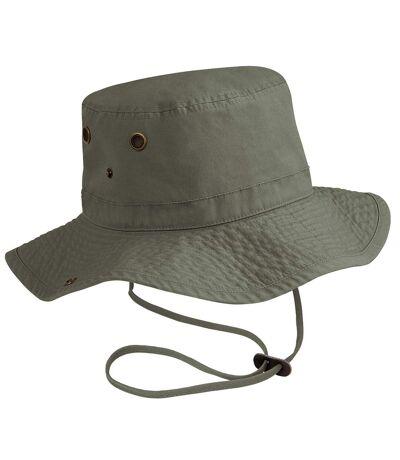 Beechfield - Chapeau protection IPS 50 100% coton - Unisexe (Vert olive) - UTRW265